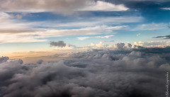 on cloud nine (www.insider-photography.com) Tags: sunset sky window clouds plane flying holidays colorful heaven with view