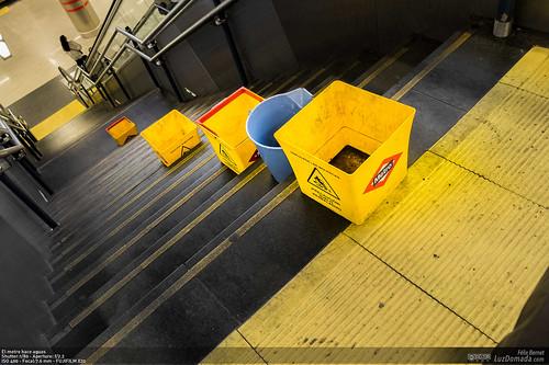 El metro hace aguas