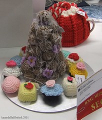 Crochet croc (Lutra) Tags: food cake crochet craft melbourne croquembouche royalmelbourneshow