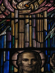 Detail of The Ascended Window by Napier and Christian Waller; St Mark's Church of England - Corner Burke and Canterbury Roads, Camberwell (raaen99) Tags: 1920s building window glass saint architecture religious suburban religion jesus gothic halo australia melbourne stainedglass victoria 1950s 1958 bible suburbs artdeco 50s 20thcentury 1928 stainedglasswindow biblical burkeroad stmarks camberwell 20s anglicanchurch 1927 gothicarchitecture placeofworship gothicchurch churchofengland gospels ascention sonofgod twentiethcentury melbournearchitecture stmarksanglicanchurch religiousbuilding burkerd theascended churchstainedglass napierwaller melbournesuburbs stainedglasschurchwindow mervynnapierwaller theascention artdecostainedglass gothicdetail stmarkschurchofengland christianwaller twentiethcenturystainedglass artisticallydesigned ascentionofchrist camberwellchurchofengland camberwellanglicanchurch stmarkscamberwell theascendedwindow
