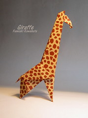 Giraffe (Laangen) Tags: berg paper origami giraffe rainer papier  girafe yrafa kawahata fumiaki