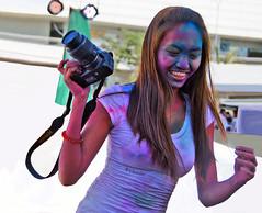 Philippines (bilwander) Tags: travel girls sexy colors festival philippines teen solo manila hindu holi pinoy mallofasia bilwander phiippines