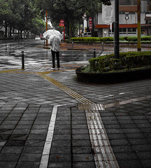 Miyazaki 77 : carrefour (i) (DanTeodor) Tags: rain japan umbrella pluie miyazaki  japon kyushu parapluie