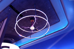 """Purple bolts of Tesla Coil on ceiling • <a style=""""font-size:0.8em;"""" href=""""http://www.flickr.com/photos/34843984@N07/15360674378/"""" target=""""_blank"""">View on Flickr</a>"""
