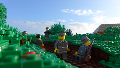 After Rain Comes Sunshine (Rebla) Tags: world 2 sunshine rain outside war lego outdoor wwii ww2 after forced comes fp prespective brickarms brickizimo