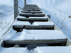 """Footsteps on Snowy Stairs • <a style=""""font-size:0.8em;"""" href=""""http://www.flickr.com/photos/34843984@N07/15401962946/"""" target=""""_blank"""">View on Flickr</a>"""