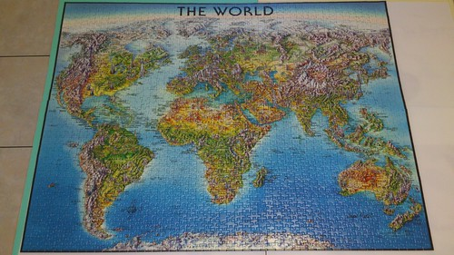 2014.09.30 2000pcs World Map Geography, From FlickrPhotos