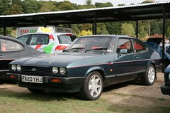1987 Ford Capri 280 (davocano) Tags: brooklands e620yhj caprinationals2014 capri45thanniversaryday