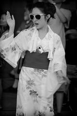 Nisei Week 2014 - Ondo Participant (rikiomgawa) Tags: blackandwhite bw monochrome festival losangeles nikon dancer yukata littletokyo lightroom ondo niseiweek d7000 silverefexpro