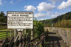 WARNING!! (Rob .S.) Tags: warning railway levisham northeasternrailway