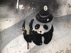 Panda - Stencil, seen in Graz/Austria ( Philipp Hamedl) Tags: streetart austria sterreich stencil panda spray graz sprhschablone sprhen strasenkunst