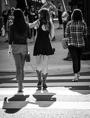 Three's Company (Tom Frundle) Tags: street city fashion women nashville boots citylife strangers streetphotography bnw k5 cowboyboots 2014 nashvegas musiccity nashvilletennessee downtownnashville tamron175028 pentaxian pentaxk5 tomfrundle