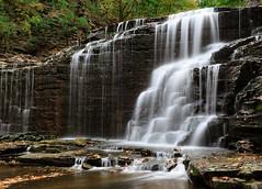 Cascadilla Gorge (Dalliance with Light (Andy Farmer)) Tags: ny newyork nature water rock landscape waterfall unitedstates gorge ithaca cascadillagorge sedimentaryrock
