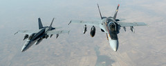 141004-F-FT438-151 (ermaleksandr) Tags: engagement iraq navy jet syria marines aircraftcarrier airforce iq isis prowler waronterror isil airstrike refueling kc135 fighterjet f18e ea6b stratotanker airdefenses electronicactivity