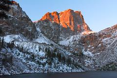Hallet Peak at Emerald Lake With Snow (Matt Thalman - Valley Man Photography) Tags: mountain lake snow water nationalpark colorado rockymountainnationalpark emeraldlake halletpeak