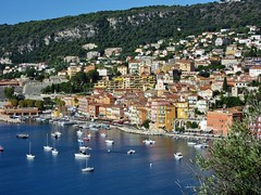 Villefranche-sur-Mer (bukk05) Tags: road trees sea summer holiday paris france building bus tree water canon french boat photo nice europe tour harbour ships tourist montecarlo monaco photograph mediterraneansea 2014 villefranchesurmer boulevardnapoloniii