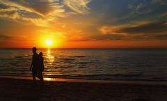 gratitude - turns what we have into enough - X100 26 (Bec .) Tags: ocean sunset reflection love beach water clouds walking sand couple fuji adelaide fujifilm bec southaustralia x100 grangebeach babyfuji gratitudeturnswhatwehaveintoenough