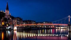 Saint-Georges by Night (lecomptoirdepierre.wordpress.com) Tags: bridge france night lyon unesco nuit lyons saintgeorges nex6 sel20f28