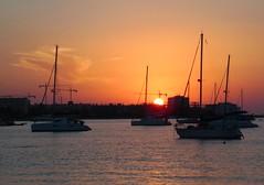 Yacht Sunset - San Antonio - Ibiza (Gilli8888) Tags: sunset sea sky sun silhouette sanantonio clouds boats marine mediterranean ibiza maritime yachts santantoni balearicislands balearics