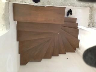 Ahşaplı çelik merdiven