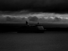(blazedelacroix) Tags: sea black contrast dark noir ship moody dramatic
