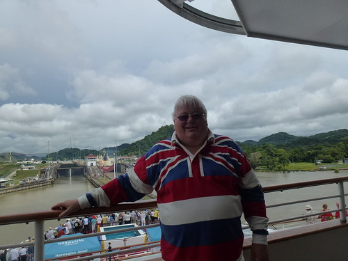 Fly the flag, Panama Canal transit Pedro Miguele Locks