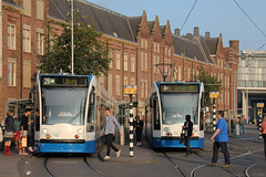 Trams at Amsterdam Centraal Station (Can Pac Swire) Tags: holland netherlands dutch