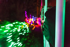 Night Train (World-viewer) Tags: ngc night motion lightstream sony a6000 ilce6000 artistic cute train christmas lights travel vancouver stanley park beautiful canada miniature