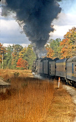 Grayling Steam Special (craigsanders429) Tags: steamlocomotives steamtrains steamexcursions steamtrain peremarquette1225 autumn autumnphotography autumncolors autumnfoliage autumncolor michigan michiganrailroads passengertrains passengercars