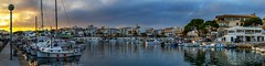 Sunset at Cala Rajada - Mallorca, Spain (dejott1708) Tags: cala rajada mallorca spain spanien espana harbour panorama sunset cityscape landscape boats clouds