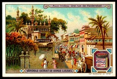 Liebig Tradecard S853 - A Street in Hyderabad (cigcardpix) Tags: tradecards advertising ephemera vintage chromo liebig india