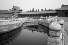 The Forbidden City - Beijing (virtualwayfarer) Tags: beijing china capital unesco unescoworldheritage worldheritage worldheritagesite asia asian street streetphotography imperial empire imperialpalace palace mingdynasty qingdynasty 紫禁城 chinese architecture chinesearchitecture canal canals palacegrounds travel tourism alexberger travelphotography longexposure bridge bridges reflection reflections canon canon6d spring march blackandwhite blackandwhitephotography