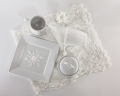 Flat Lay Color - White (lclower19) Tags: flatlay color white odc lace creamer plate snowflake sugarbowl cup squareplate alstromeria flower