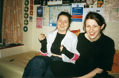 My room (Gary Kinsman) Tags: hampsteadstudentcampus hampstead childshill nw3 kidderporeavenue london film kingscollegelondon kcl hallsofresidence studentcampus students university fun youth young 2002 flash candid unposed