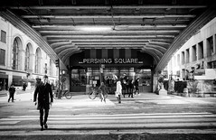 Pershing Square (DHaug) Tags: streetphotography pershingsquare 42ndstreet manhattan newyorkcity grandcentralterminal blackandwhite noiretblanc xf1024mmf4rois fujifilm xt2 midtowneast