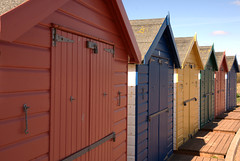Dawlish Warren, Devon #2 (adamnwylds) Tags: dawlishwarren devon uk southwest beach holidayresort seaside sunny warm outside coast southwestengland naturereserve spit sand dunes beachhuts holiday huts broadwalk revetment