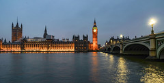 Houses of Parliament (paul hitchmough photography) Tags: bluehour panorama wideangle river architecture london nikond800 paulhitchmoughphotography riverthames bigben housesofparliment