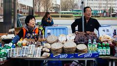 Pregame Parking lot Vendors (Jamsil Baseball Stadium) (Kevin Lowry) Tags: korea 35mm18 nikon streetphotography seoul