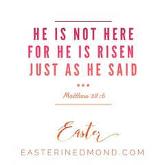He is not here.  He is risen. Just as he said! (Matthew 28:6)  Join us for Easter Sunday. 10:30 AM at John Ross Elementary in #Edmond #Oklahoma. easterinedmond.com (rcokc) Tags: he is here risen just said matthew 286 join us for easter sunday 1030 am john ross elementary edmond oklahoma easterinedmondcom