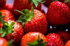Sweet Strawberries (Limes Wright) Tags: strawberries fruit berries red macro closeup depthoffield