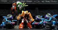 Guilty or Innocent (Hobbestimus) Tags: transformers g1 generationone wheelie sharkticon gnaw quintessa 80s cartoon toys thetransformersthemovie