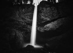 Lower Latourell Falls (AirHaake) Tags: latourell latourellfalls lowerlatourellfalls nature oregon blackandwhitephotography blackandwhite mono monochrome longexposurephotography longexposure atmosphere