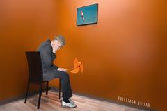 En attendant Éole (Philémon Shivar) Tags: chambreorange philémonshivar poésie vent bedroom cadre mélancolie humour contemporain photographe