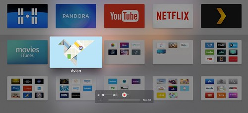 Current Home AppleTV Apps & Folders by Wesley Fryer, on Flickr