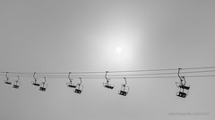 shapes (ignacy50.pl) Tags: mountains skilift ski sun blackandwhite alps france highmountains artphotography ignacy50 canon shapes