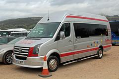 Cogan, North Weald S27 WFT, Volkswagen Crafter at Cheltenham racecourse (majorcatransport) Tags: essexbuses cogannorthweald volkswagen cheltenham