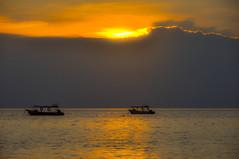 Tioman Island Sunset (The Dutch Crow) Tags: tioman malaysia yacht orange island pahang yellow red cloud clouds sun