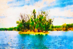 A pequena ilha | The little island | La petite île | La piccola isola | La pequeña isla | Маленький остров (António José Rocha) Tags: portugal alentejo lagoa água natureza paisagem beleza campo aoarlivre serenidade cores verde azul céu árvores