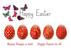 Auguri (celestino2011) Tags: easter egg celebration holiday set red golden row decor decoration design colorful ornate april season spring art christianity element floral flower food gift happy illustration image ornament paint pattern religion seasonal traditional white glossy color