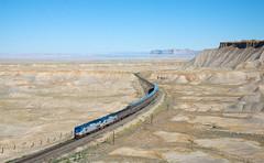 Book Cliffs (david_gubler) Tags: gep42dc californiazephyr greenriver floy utah usa railway train amtrak superliner bookcliffs
